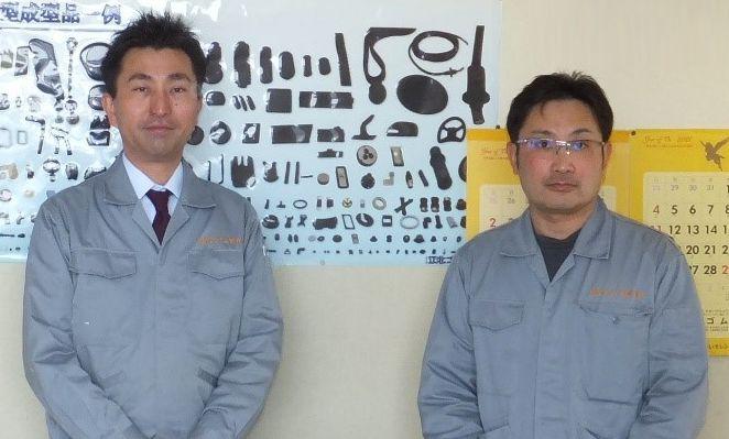 代表取締役社長・菅原健太氏と富士工場長代理・和光洋宜氏
